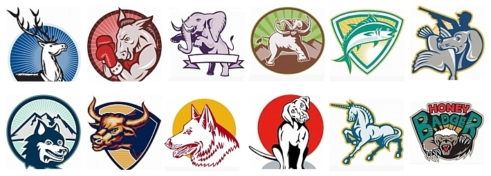 Retro Tiere Vektorgrafiken Cliparts Illustrationen - Download